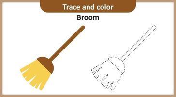 traço e vassoura colorida vetor