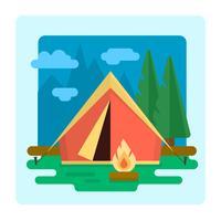 Camping Paisagem vetor