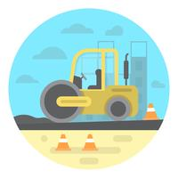 Construção de estrada vetor