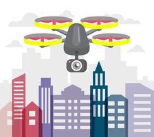 Drone voador vetor