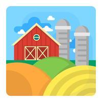 Paisagem da fazenda vetor