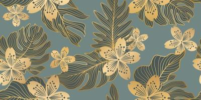 padrão sem emenda floral em estilo oriental. fundo da flor. florescer textura de jardim com flores. vetor
