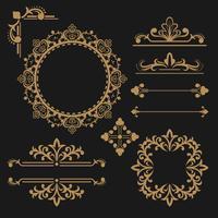 Ornamentos decorativos 1 vetor