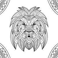Livro de Colorir Animal Leão vetor