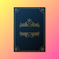Modelo de convite de casamento de cartão vetor