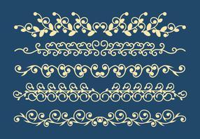Conjunto de vetores de ornamentos decorativos