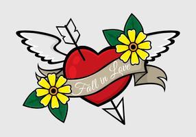 Nova ilustração de tatuagem Skool vetor