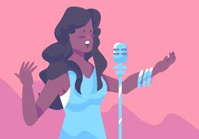Mulheres De Cor Singer vetor