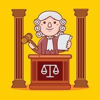 profissão de juiz de homem em estilo design plano. vetor