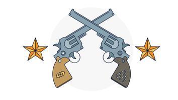 Vetor de duelo de pistolas