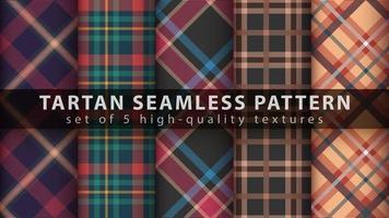 definir padrão tartan clássico sem costura vetor