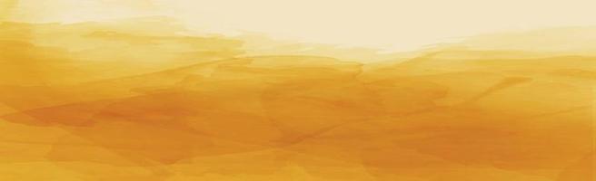 realista textura panorâmica aquarela amarelo-laranja em um fundo branco vetor