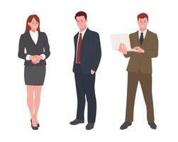 conjunto de caracteres de terno de escritório. vetor