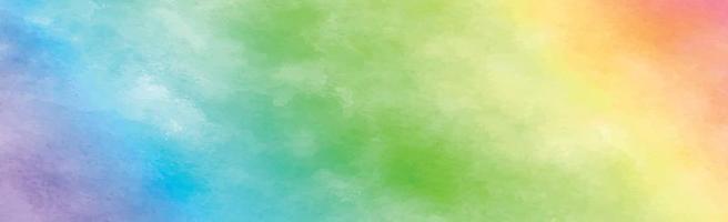 textura panorâmica de aquarela multicolorida realista em um fundo branco - vetor