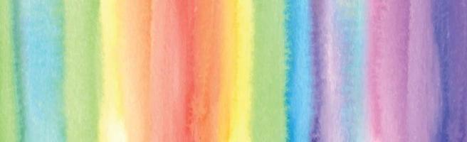 textura panorâmica realista arco-íris aquarela sobre fundo branco - vetor