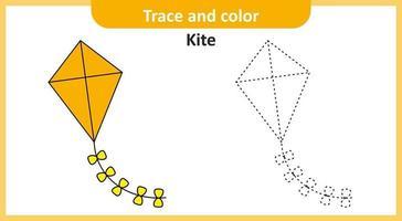 traçar e colorir pipa vetor
