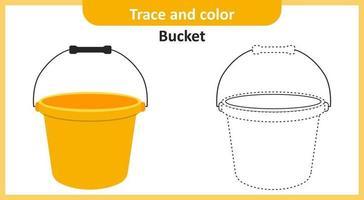 rastro e balde de cor vetor