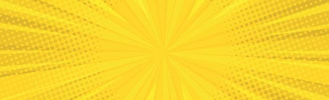 zoom em quadrinhos laranja com linhas e brilho - vetor