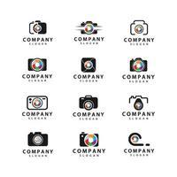 pacote de ícones de logotipo de câmera vetor