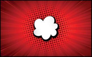 zoom cômico vermelho com linhas e pontos - vetor