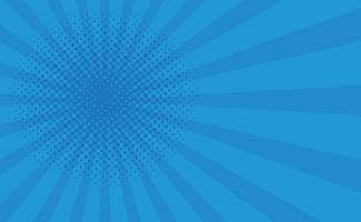 zoom cômico azul com linhas e pontos - vetor