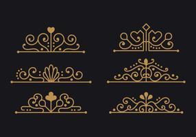 Coleção minimalista de ornamento de Espanha para elementos de Design vetor