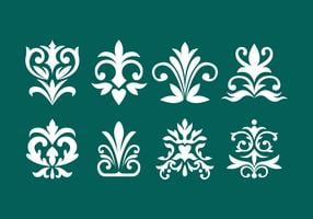 Coleção de elemento decorativo de ornamento vetor