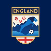 Emblemas do futebol da copa do mundo de Inglaterra vetor