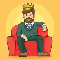 Chefe com vetor de coroa