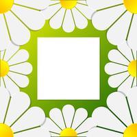 Paper 3d Flower Art Floral Moldura Padrão vetor