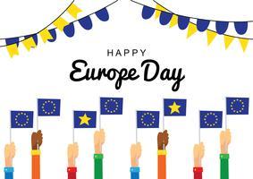 Dia da Celebração da Europa vetor