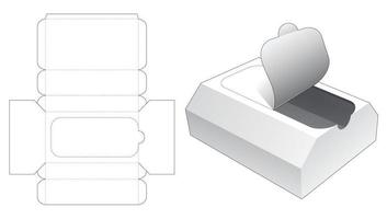 embalagem em formato de peito com molde de corte e vinco vetor