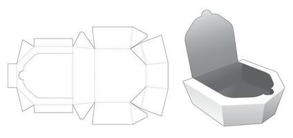 embalagem de bandeja com molde de corte e vinco vetor