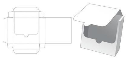 zipando modelo de embalagem de lata cortada vetor