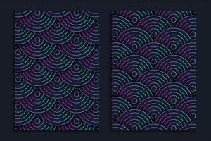 design de capa de decoração de círculos gradientes, fundo de capa moderno com círculos gradientes vetor