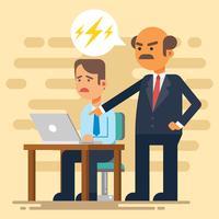 Ilustração em vetor chefe zangado