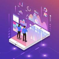 análise de marketing digital vetor