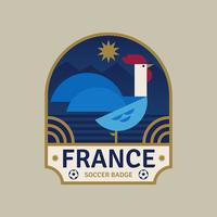 Emblemas do futebol da copa do mundo de France vetor