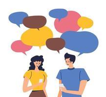aplicativo namoro online no celular vetor