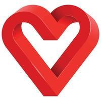 ilustração de uma figura geométrica impossível com forma de coração vetor