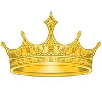desenho vetorial de coroa dourada, com flor real liz vetor