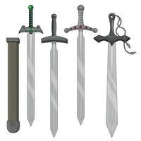desenho vetorial de espadas e bainha vetor