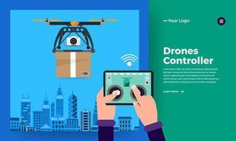 vetor de entrega drone