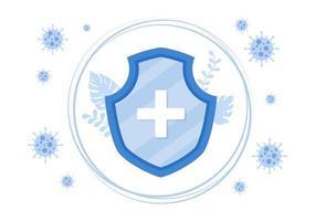 ilustração vetorial pessoas da área de saúde protegendo e lutando contra o vírus corona vetor