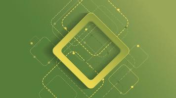 fundo geométrico abstrato com quadrado gradiente verde sobre fundo verde vetor