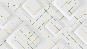 fundo geométrico abstrato com quadrados brancos, verdes e amarelos em fundo branco vetor