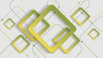 fundo geométrico abstrato com quadrados gradientes verdes sobre fundo branco vetor