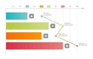 gráfico de barras gráfico gráfico diagrama estatística de negócios modelo de elemento infográfico vetor