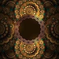 Fundo de decoração de padrão árabe de mandala de luxo elegante vetor