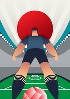Jogadores de futebol da copa do mundo de Japão vetor